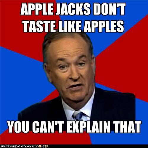 apple apple jacks bill-oreilly cereal commercials taste - 5284770304