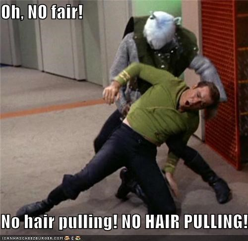 Captain Kirk,hair pull,Shatnerday,Star Trek,William Shatner