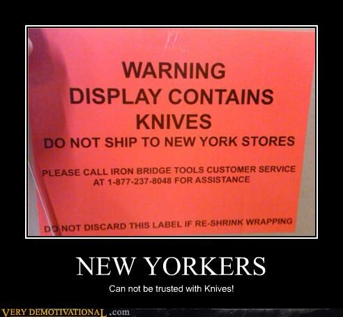 hilarious,knives,new yorkers,sign