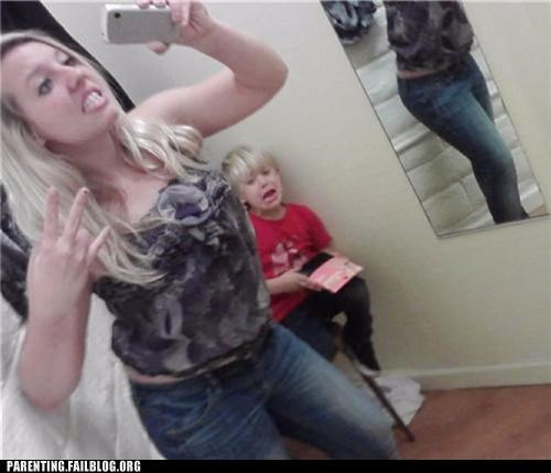 crying dressing room fashion mirror mirror pic Parenting Fail scared - 5285028352