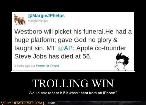 hilarious iphone steve jobs trolling win - 5285108224