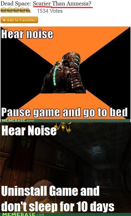 amnesia bed caption dead space Memes noise - 5285223936