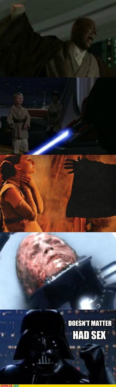 anakin skywalker died doesnt matter had sex star wars vader - 5285233920