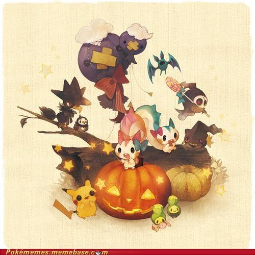 art cute halloween Party pikachu - 5285374976