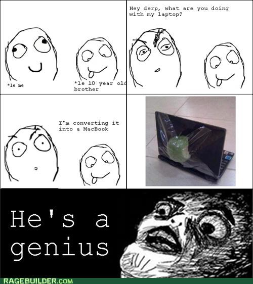 apple,computer,genius,Rage Comics