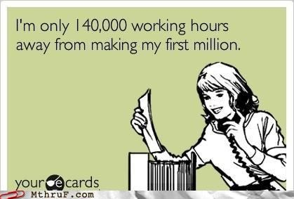 ecard,millionaire,minimum wage,salary,wage slave