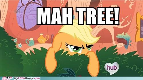 applejack,mine,the hub,tree,TV