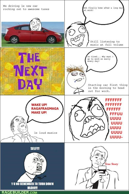 chop suey,loud,radio,Rage Comics,wake up