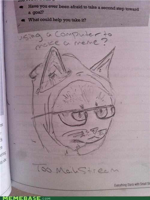 answers computer drawing Hipster Kitty homework mainstream times - 5285564416