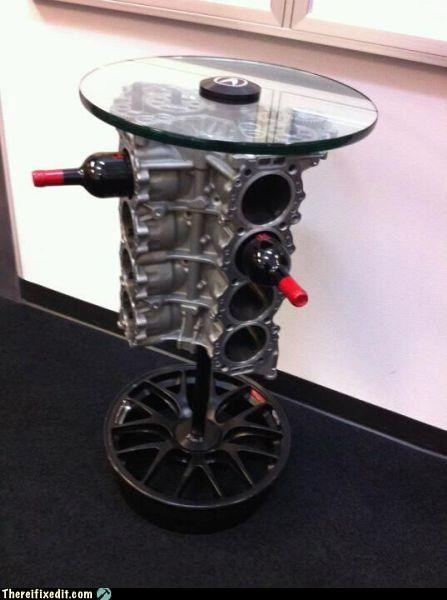 alcohol,dual use,engine,not a kludge,table,wine