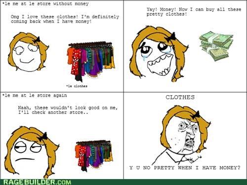 clothes,girl comics,money,Rage Comics