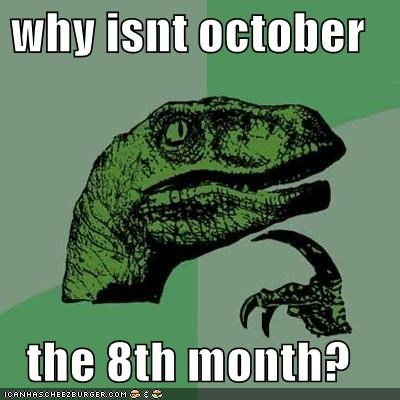 calendar november october philosoraptor - 5285608704