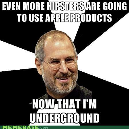 apple,hipster,Scumbag Steve Jobs,steve jobs,underground