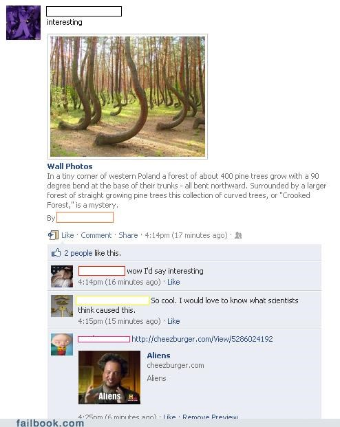 Aliens,ancient aliens,image,meme,trees,witty reply