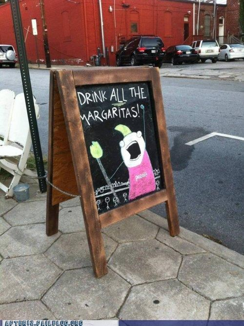 all the things,bar,happy hour,hyperbole and a half,margarita,pub,sign