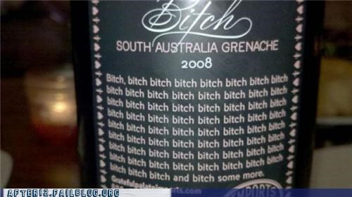 australia bad language label whine wine - 5286107648