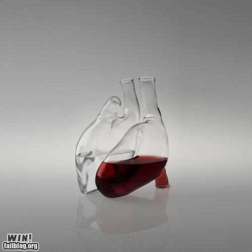 anatomy art design glass heart juice wine - 5286126080