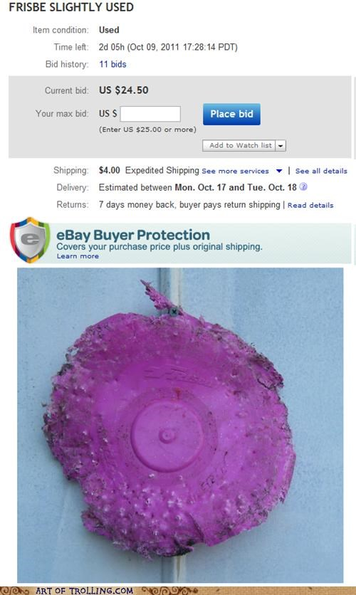 best of week,ebay,frisbee,shoppers beware,used