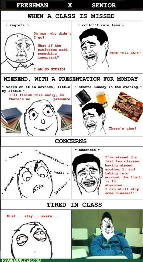 freshman,grades,Rage Comics,school,senior