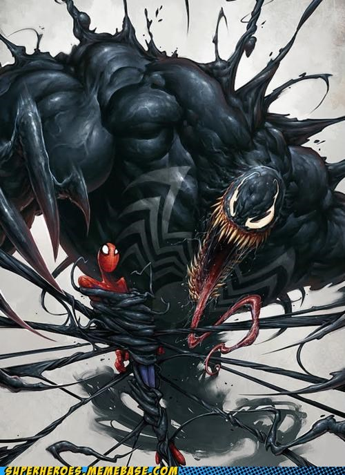 Awesome Art huge Spider-Man Venom wtf - 5286371840