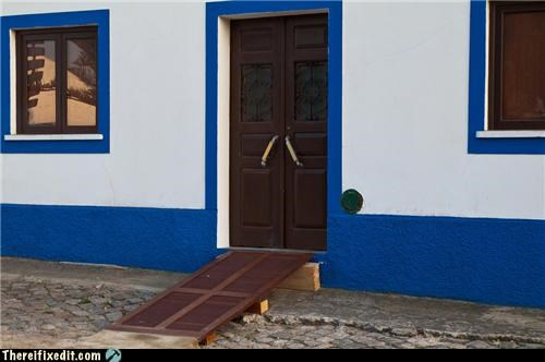 Wheelchair ramp in Zambujeira do Mar, Portugal