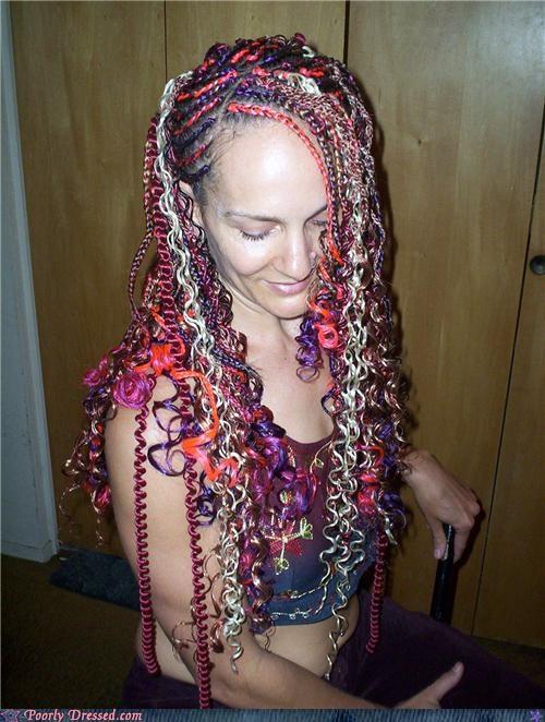 hair phone cord spaghetti - 5286561536