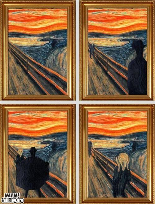 art Before And After classic art classical hacked The Scream