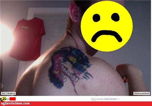 angry panther back tattoo sad puma Terrifying - 5286691840