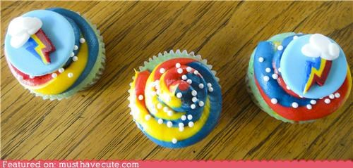 cupcakes dash epicute food lightning bolt rainbow rainbow dash sugar sweet - 5286818816