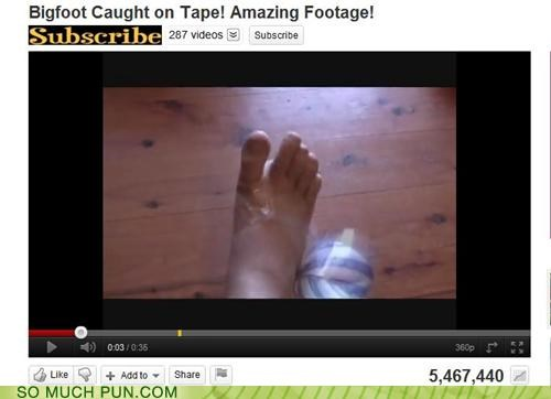 big caught double meaning FAIL foot literalism lolwut screenshot tape technology is hard - 5288073216