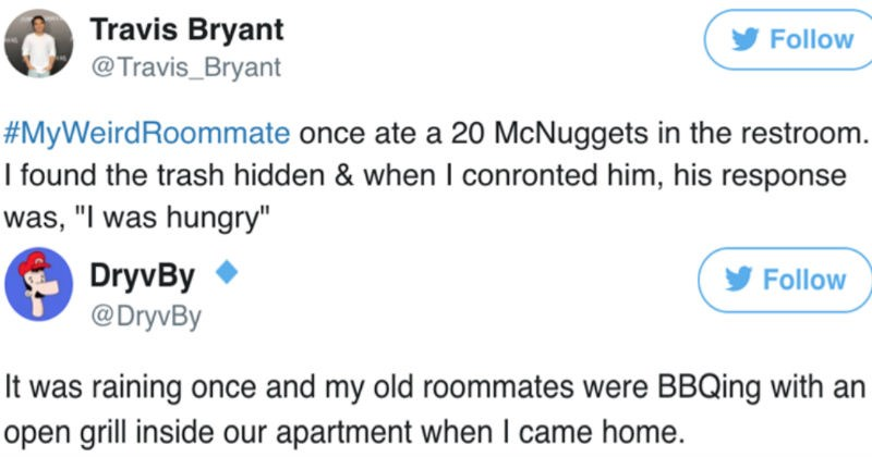 twitter relatable ridiculous roommates funny - 5288453