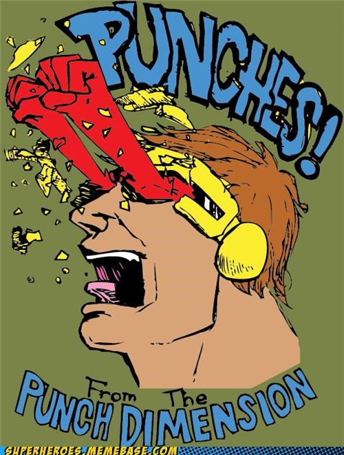 Awesome Art cyclops optic blast punch - 5288796928