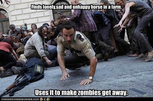 Andrew Lincoln,horse,Rick Grimes,The Walking Dead,zombie
