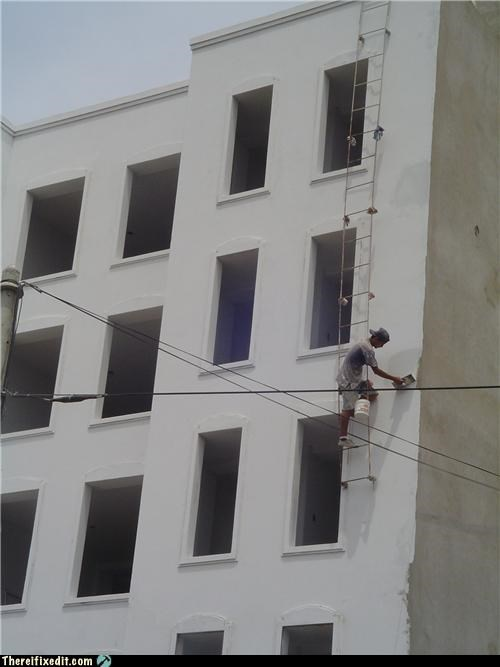 painting Professional At Work safety first