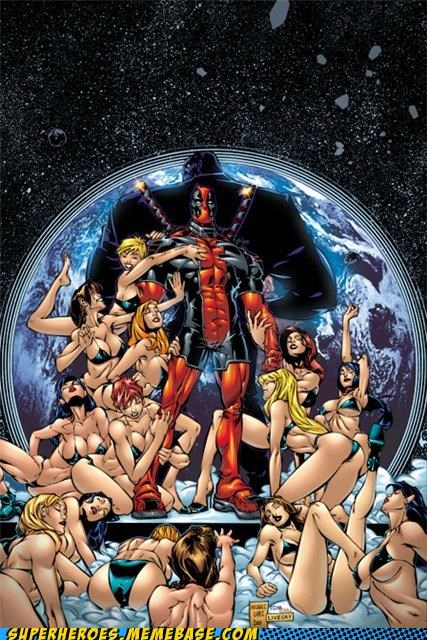 deadpool,harem,space,Straight off the Page,wtf