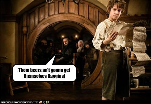 beers Bilbo Baggins hobbits Martin Freeman The Hobbit - 5290106880