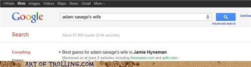 adam savage,google,myth,myth busters,wife