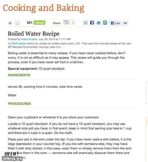 cooking,easy,for dummies,guide,recipe,water