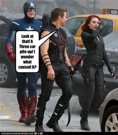 actor celeb chris evans funny Jeremy renner Movie scarlett johansson The Avengers - 5292164096