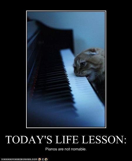TODAY'S LIFE LESSON: Pianos are not nomable.