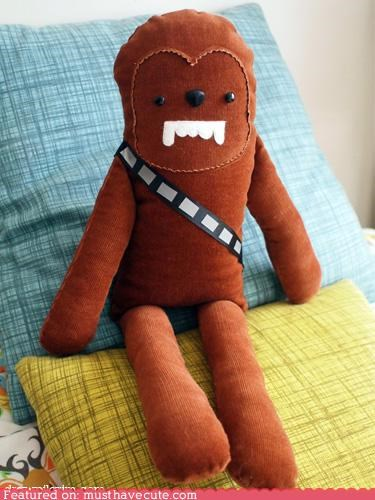 chewbacca pattern sewing star wars teeth toy - 5293280256