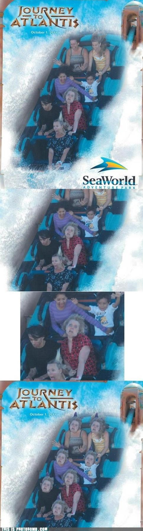 eyes flashed Reframe ride scared theme park water park - 5293346560