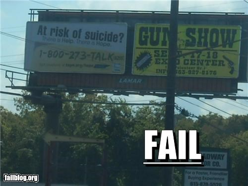 billboard failboat g rated guns irony juxtaposition - 5293760512