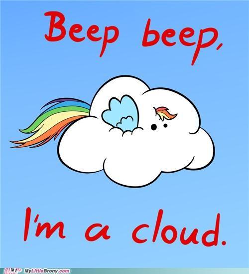 beep beep im-a-cloud meme outta mah way rainbow dash - 5293918720
