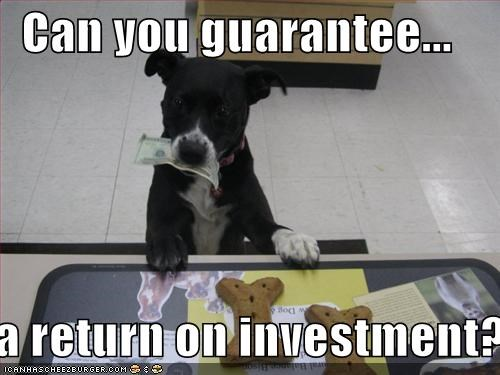 Can you guarantee... ...a return on investment?