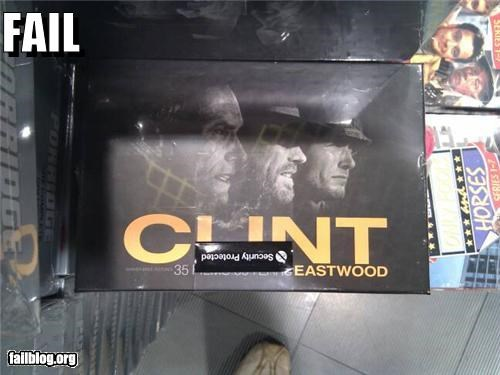 Clint Eastwood failboat innuendo Movie sticker placement swear words - 5294916352