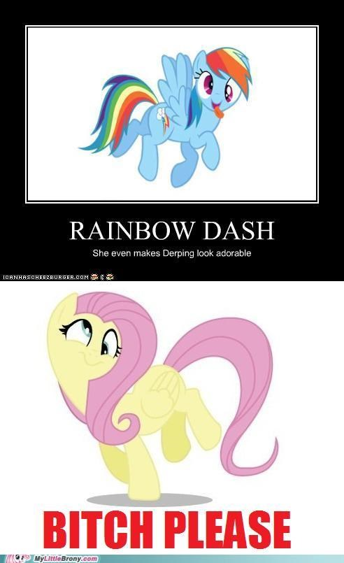 comics comixed derp fluttershy rainbow dash - 5295038976
