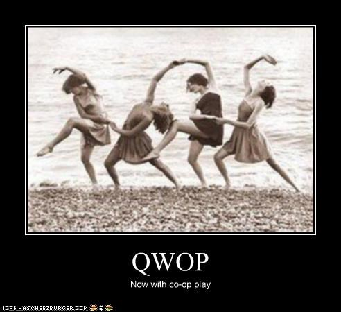 beach co-op play dancing historic lols interpretive dance QWOP video game vintage women - 5295169024