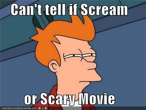 fry horror movies parody satire scary movie scream - 5295666432