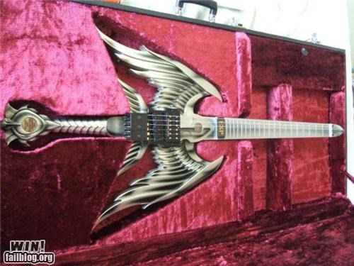 custom,DIY,guitar,metal,Music,nerdgasm,nerdy,sword